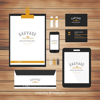 Nice stationery for a restaurant