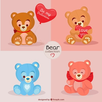 Nice stuffed bears for valentine day