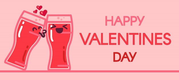 Nice stylish valentine day illustration