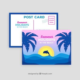 Красивая летняя открытка