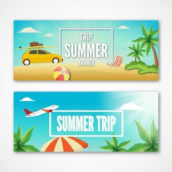 Nice summer trip banners