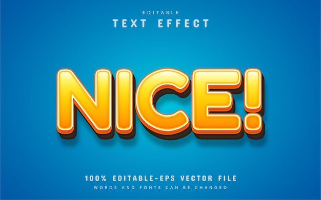 Nice text effect editable