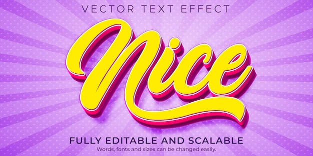 Nice text effect style template