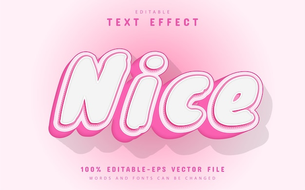 Nice text, pink style text effect