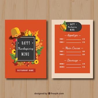 Nice thanksgiving menu in vintage style