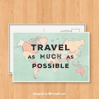 좋은 여행 엽서 템플릿