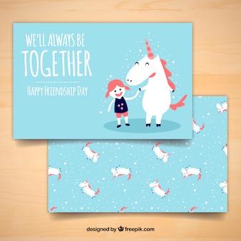 Nice unicorn card with emotional phrase