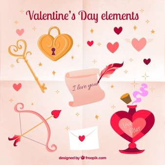 Nice valentines day elements