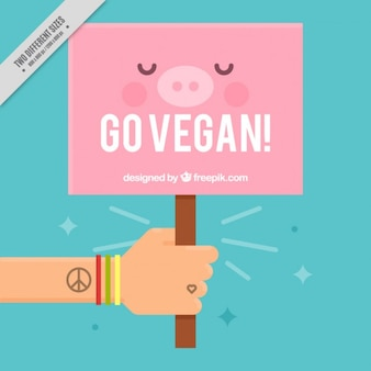 Nice vegan sign background