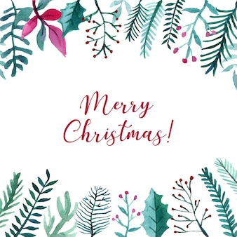 Nice watercolor christmas background