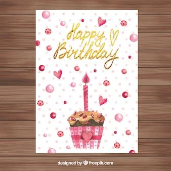 Nice watercolour birthday card