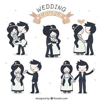 ニースの結婚式のカップルの図面