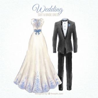 ニースの結婚式のスーツと花嫁のドレスの最新デザイン