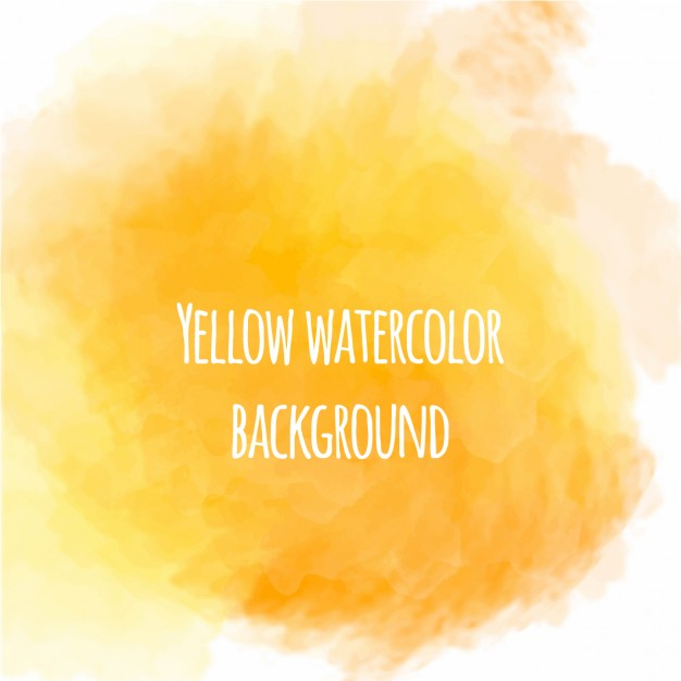 Nice yellow watercolor background
