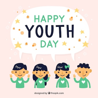 Sfondo bella giornata dei giovani con i bambini