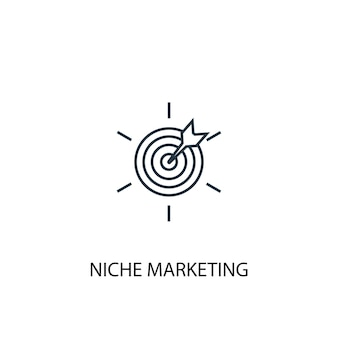 Niche marketing concept line icon. simple element illustration. niche marketing  concept outline symbol design. can be used for web and mobile ui/ux