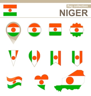 Niger flag collection, 12 versions