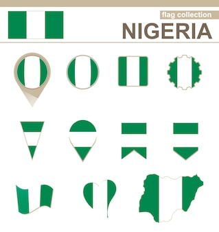 Nigeria flag collection, 12 versions