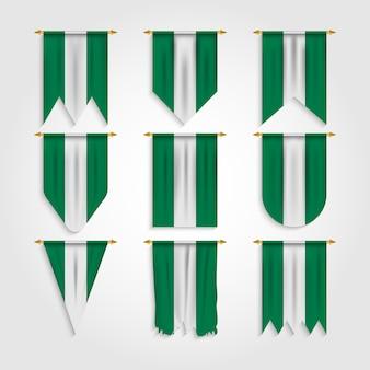 さまざまな形のナイジェリアの旗、さまざまな形のナイジェリアの旗