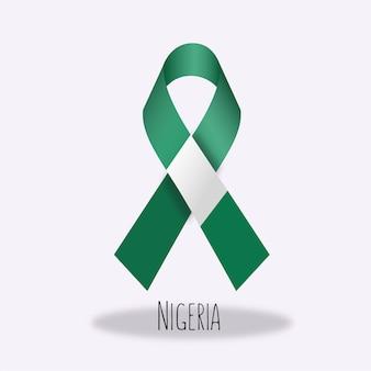 Nigeria flag ribbon design