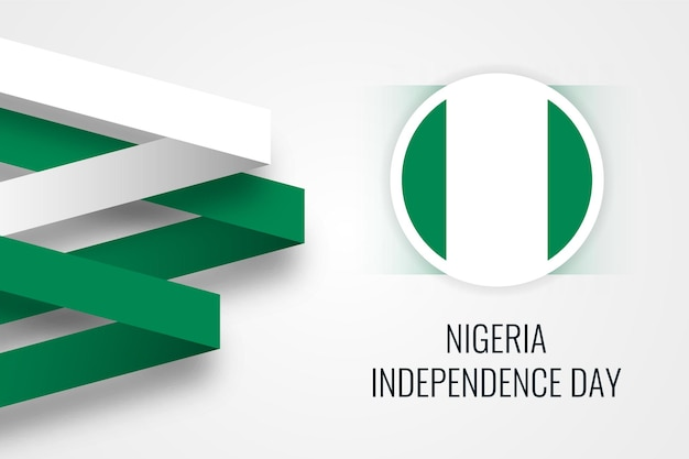 Дизайн шаблона иллюстрации празднования дня независимости нигерии