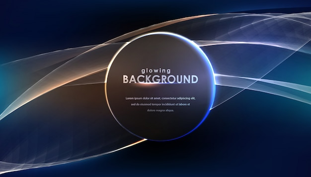 Night abstract background with round