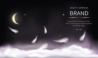化粧品のための夜の背景