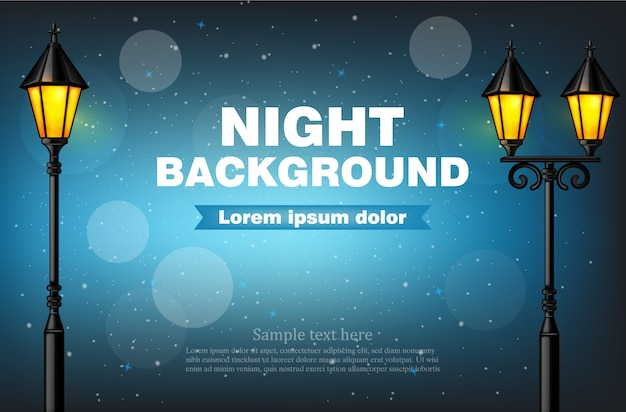 Night background lamps