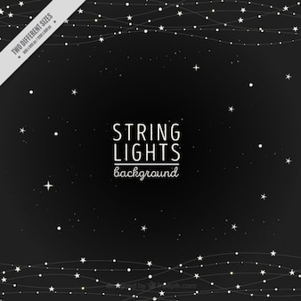 Night Background Of String Lights And Stars