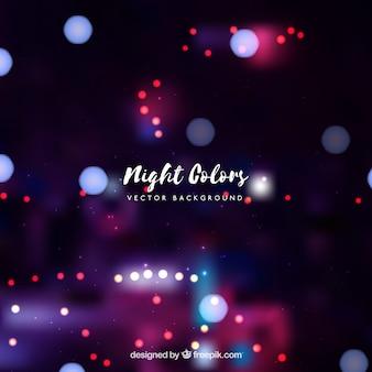 Sfondo notturno con effetto bokeh