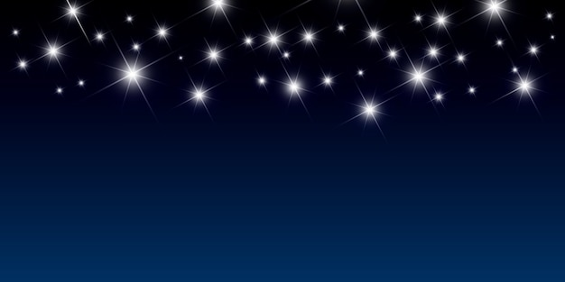 Night background with bright stars vector illustration