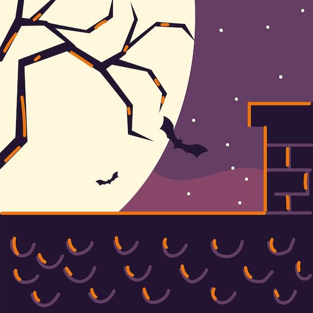 밤 박쥐와 지붕