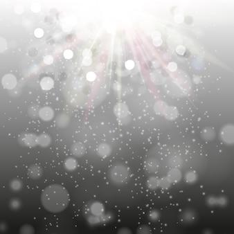 Ночной черный фон с блестками и лучами. eps10