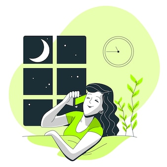 Night calls concept illustration