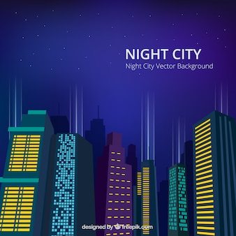 밤 도시 배경