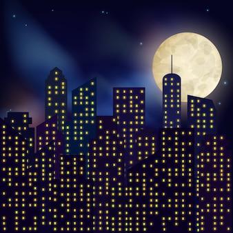 Paesaggio notturno della città