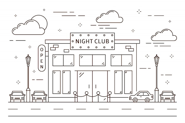 ナイトクラブの建物。