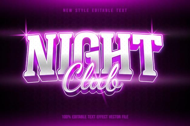 Night club editable text effect modern neon style