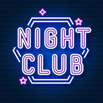 Night club neon signboard