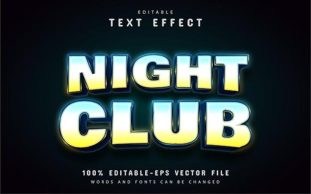 Ночной клуб в неоновом стиле с текстовым эффектом