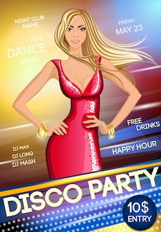 Night club party poster template