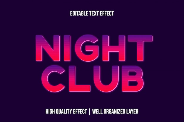 Night club purple pink gradient text effect style