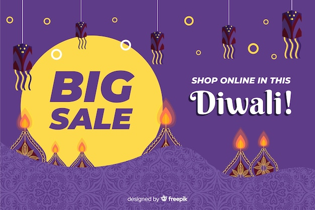 Night concept for diwali big sales