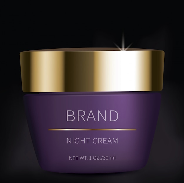 Night cosmetic gel for eyes skin care
