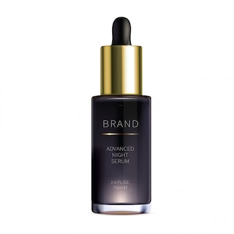 Night cosmetic serum for face skin care