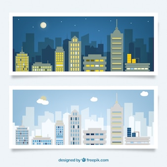 Night and day city