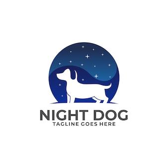 Night dog logo