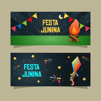 Night festa junina banner