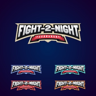 Night fight. mixed martial arts