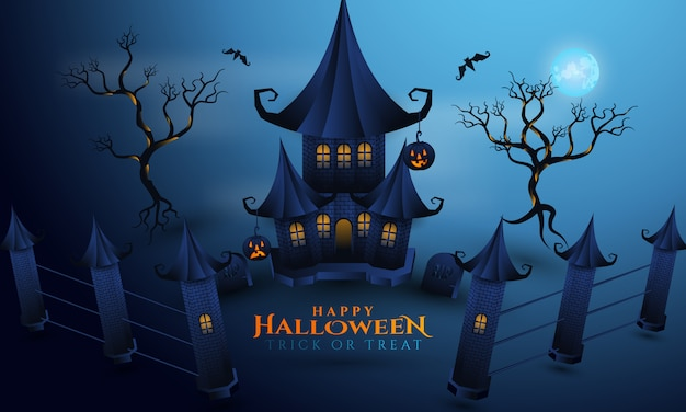 Night of halloween background